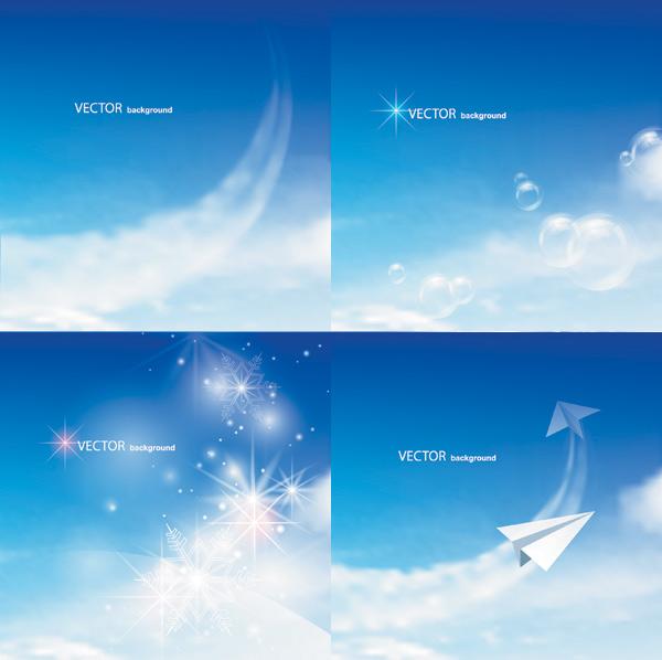 素材分类: 矢量自然风景所需点数: 0 点 关键词: 炫蓝天空矢量素材