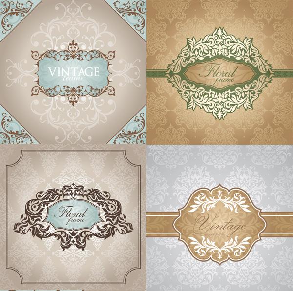 关键词: 植物花纹边框矢量素材图,植物花纹,欧式边框,边框设计,花纹