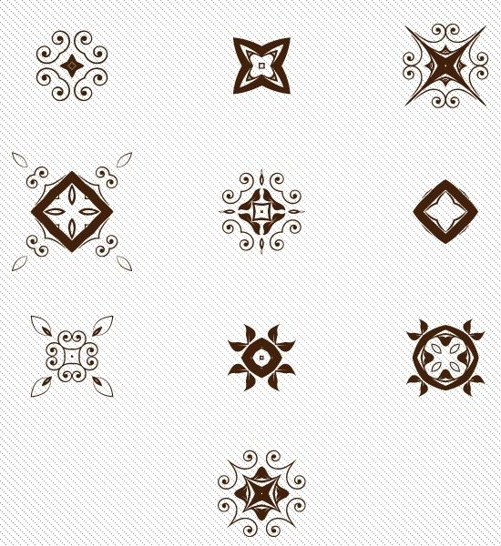 素材贴——花纹装饰纹边角纹
