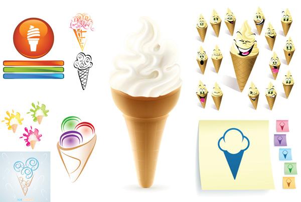 素材分类: 矢量美食所需点数: 0 点 关键词: 卡通冰激凌矢量素材