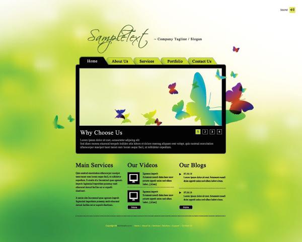 春季绿色网页