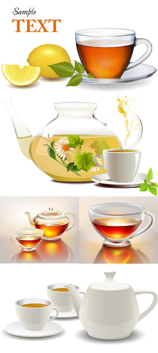 逼真茶壶茶杯图片