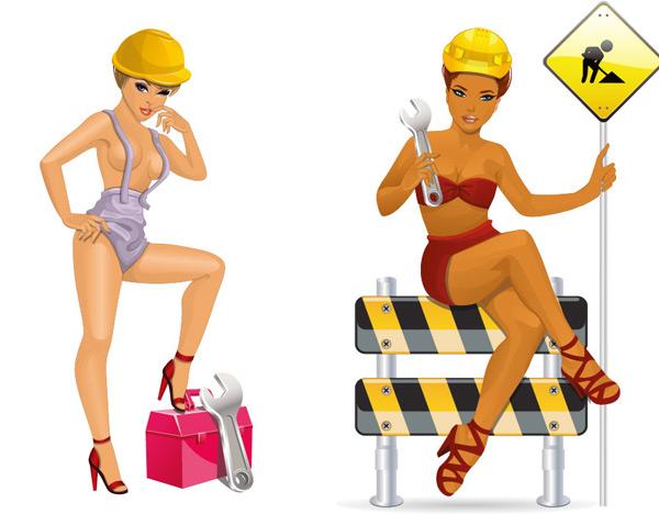 性感美女工人 素材中国sccnncom