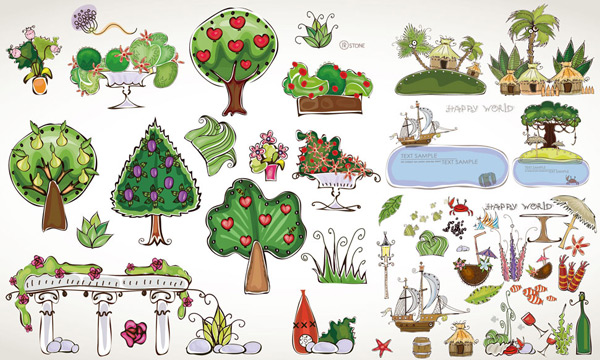 Summer Tree Cartoon Cartoon Summer Tree Theme