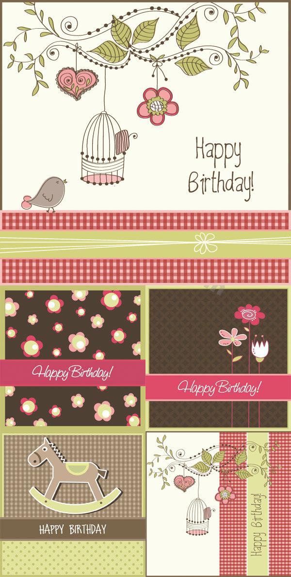0 点 关键词: 生日快乐卡片矢量素材,生日快乐,生日卡片,手绘插画
