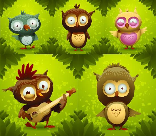 素材分类: 矢量卡通动物所需点数: 0 点 关键词: 卡通森林猫头鹰矢量