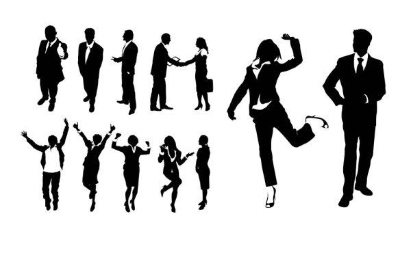 关键词: 商业人物剪影psd分层素材,商业,人物,剪影,黑白,礼节,欢悦