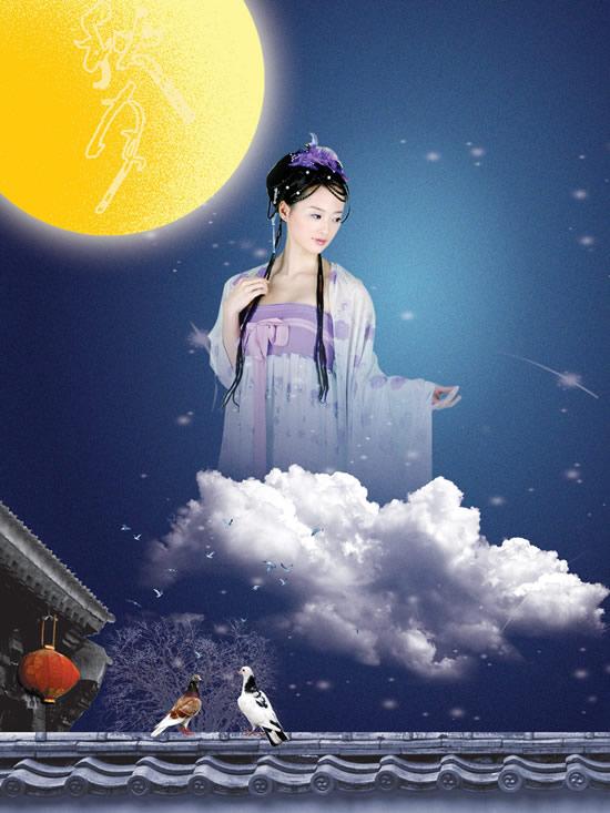 0 点 关键词: 金黄秋月古装美女psd,星空,屋檐,白云,鸽子,流星,灯笼