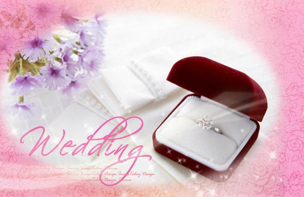 求婚钻戒PSD