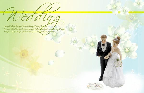 结婚贺卡PSD