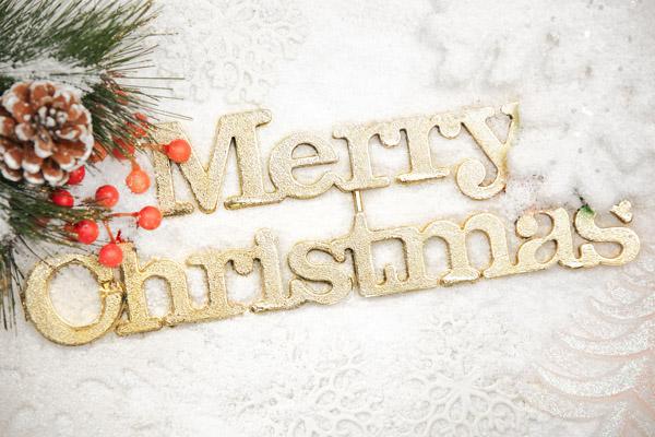 金色英文圣诞快乐_圣诞节