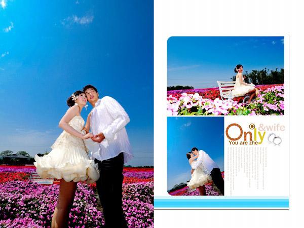 Flowers, wedding template
