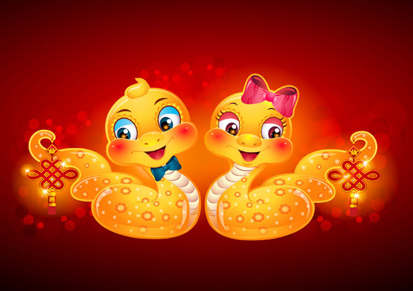 新年卡通蛇图片,卡通蛇