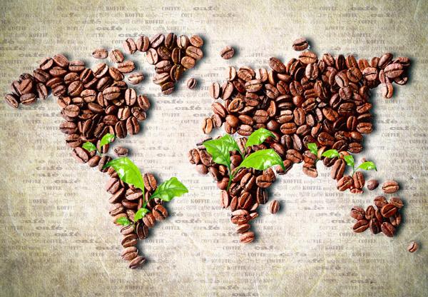 咖啡豆世界地图