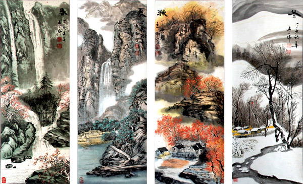 Four seasons of Chinese ink painting