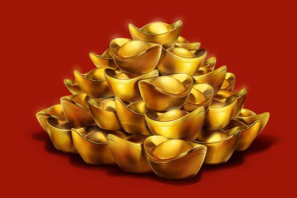 喜庆的金元宝设计图片素材下载