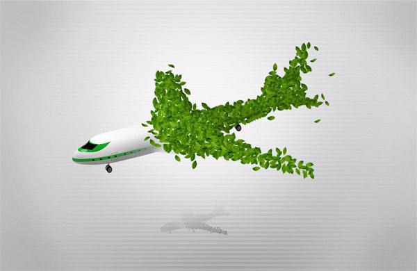 绿叶组成飞机_其它 - 素材中国