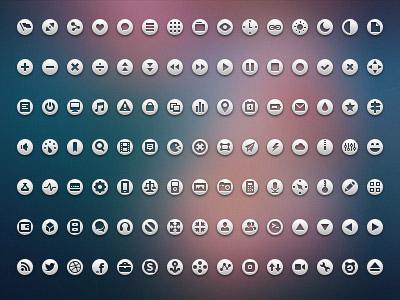 单个透明图标素材; 说明:圆形小图标;