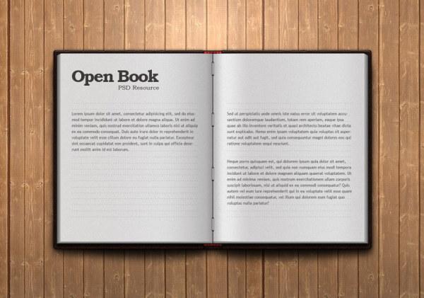 书本psd分层素材; 打开的书图片素材-素材公社;