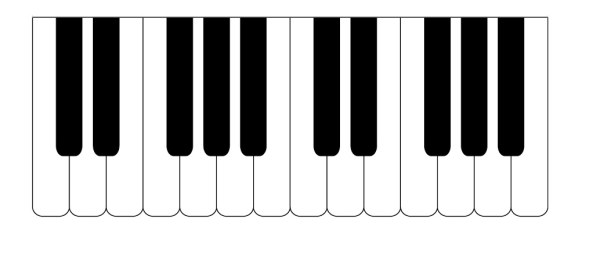钢琴键盘矢量