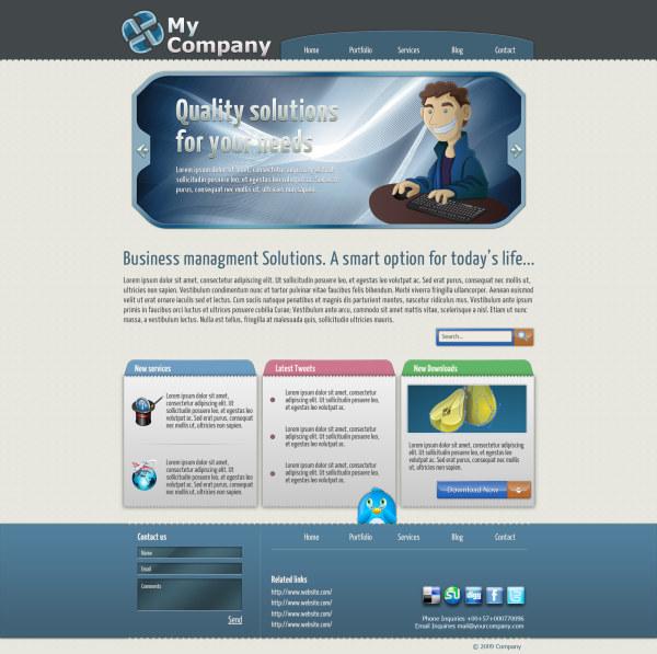 国外网页模板_素材中国sccnn.com