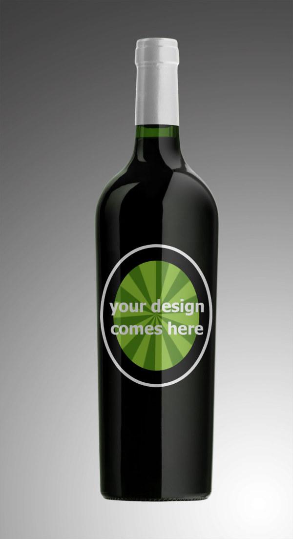 葡萄酒瓶模板