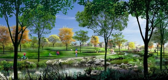 游人行人,公园景观,园林绿化,园林布置,园林设计图片素材,免费3d效果