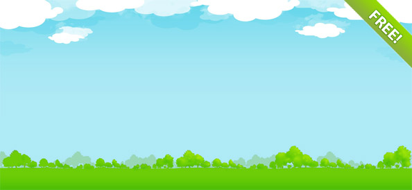 Background of blue sky and grass