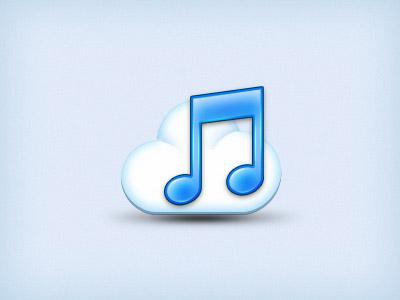 音乐云图标psd素材下载,音乐图标,音符,图标设计,网页图标,icon 下载图片