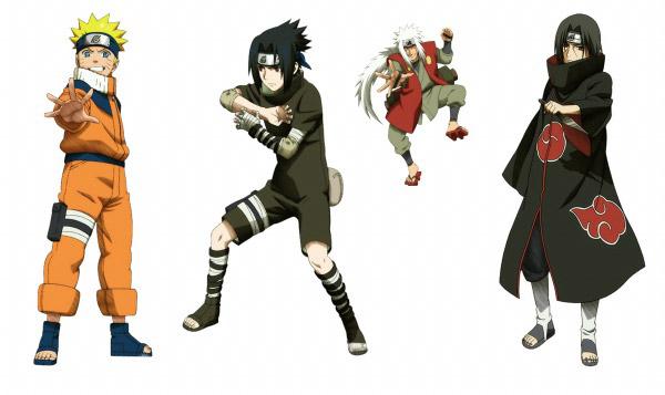 Naruto characters PSD