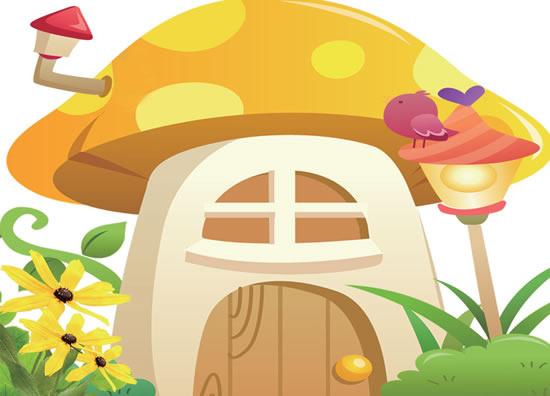 Mushroom cottage mailbox