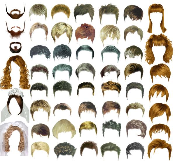 头发发型模版