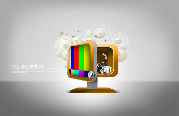 电视机创意设计图片