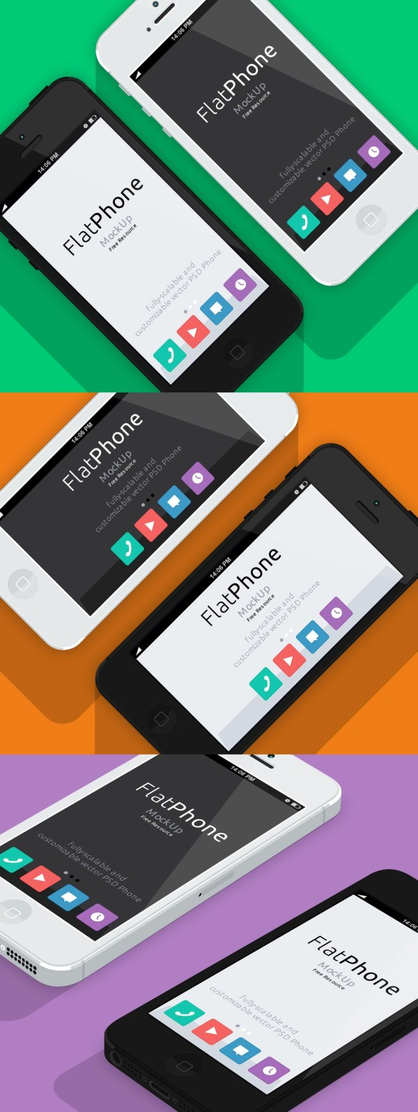 IPhone5 flat die