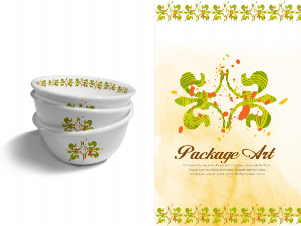 Beautiful porcelain patterns