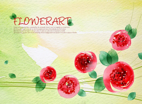 Paint flower background