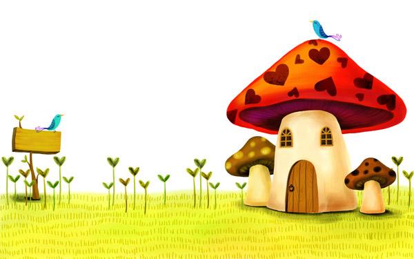 卡通蘑菇房子图片 蘑菇房子图片 六一 北京周; 漂亮的卡通房子图片