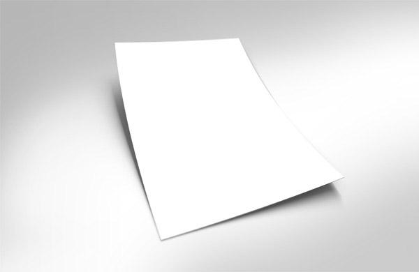 一张立体白纸