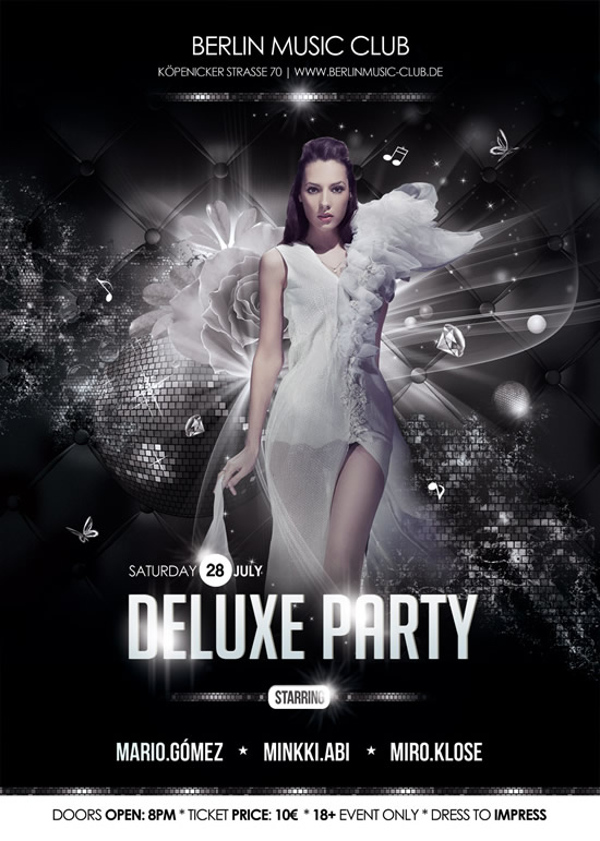 Beauty party poster