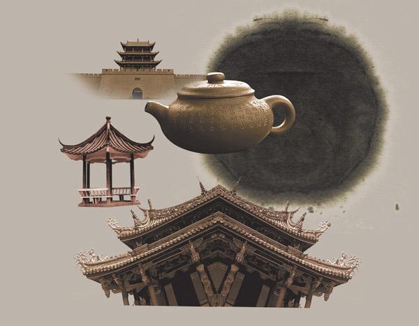 中国风古典元素psd