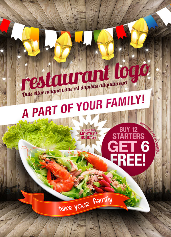 Restaurant flyer PSD layered material, restaurant, flyers, posters ...