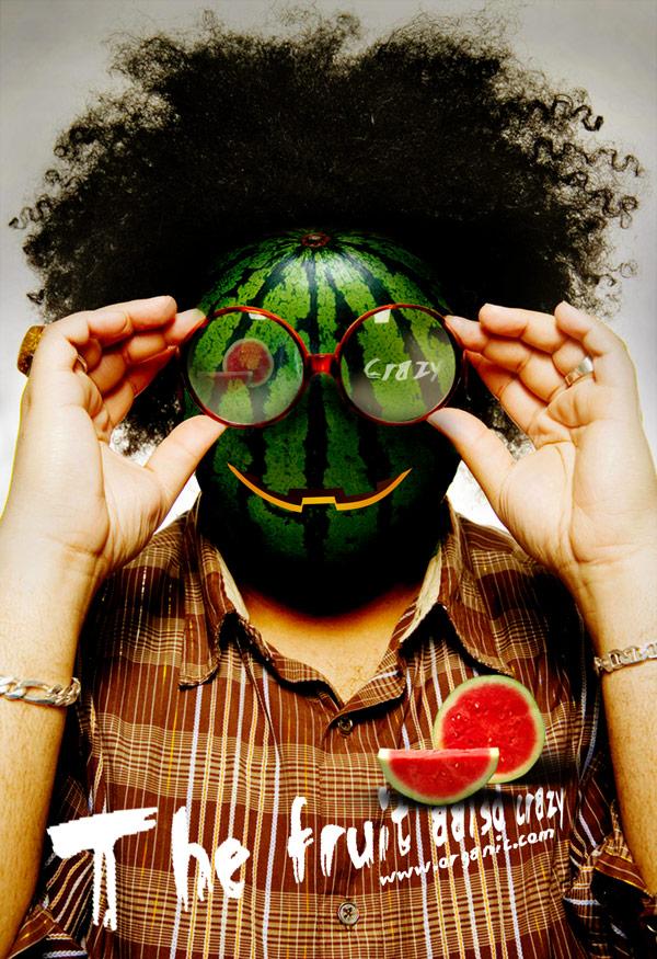 Creative fruit poster