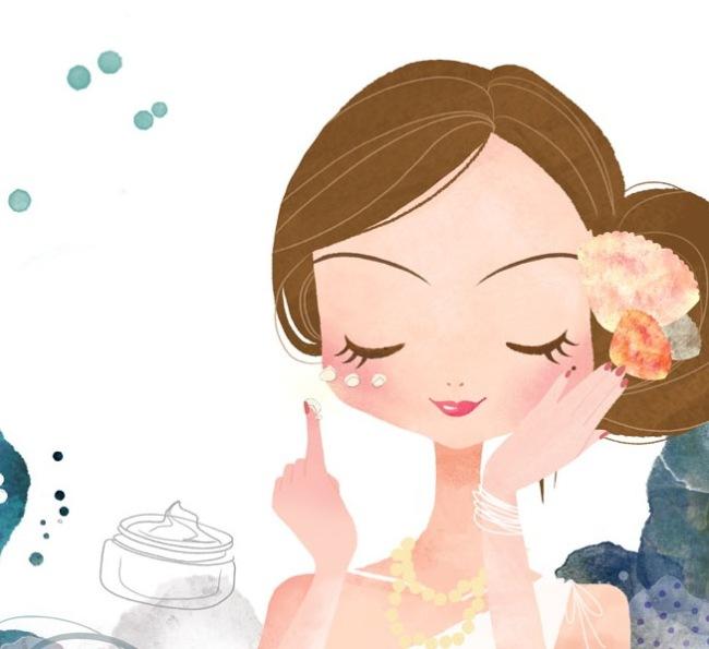 化妆的卡通美女 素材中国sccnncom
