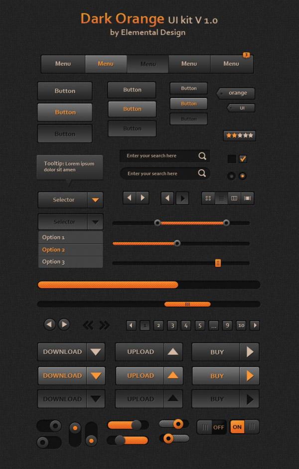 0 点 关键词: 深橙色的ui工具包,ui设计,网页u,i网页按钮,进度条