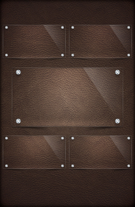 Leather texture notices interface