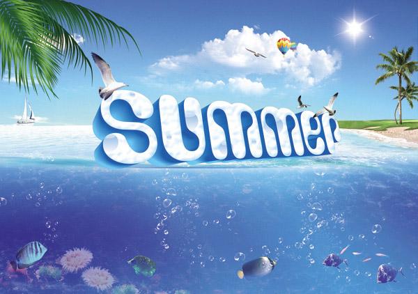 蓝天,天空,云彩,云朵,白云,阳光,太阳,热气球,海鸟,椰树,椰子树,大海