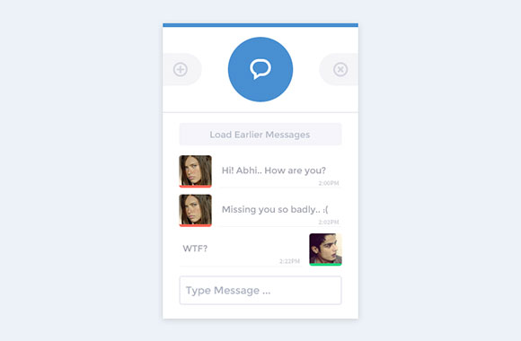 Chat app interface