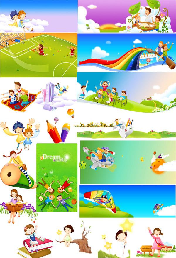 Children cartoon Children's Day