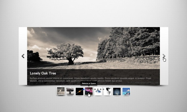 Stylish Web slider PSD