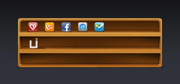 图标,网页,设计,木质